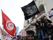 Protestkundgebung in Tunis