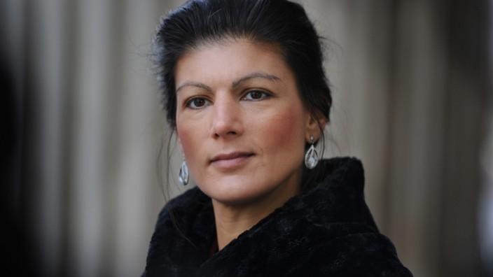 Linke Linkspartei Vize-Parteichefin Sahra Wagenknecht