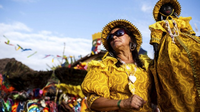 Karneval Maracatu Cambinda Brasileira Pernambuco Brasilien