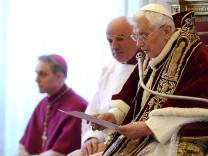Papst Benedikt XVI. Rücktritt