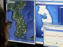 Nordkorea Atomtest Nuklearanlage Südkorea Atombombe Kim Yong Un