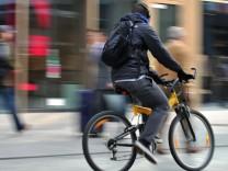 Radfahrer in Frankfurt