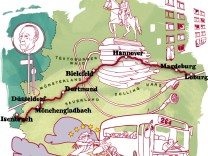 Illustration Fernbus Deutschland