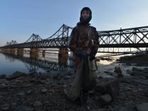 Nordkorea, China, Freundschaftsbrücke
