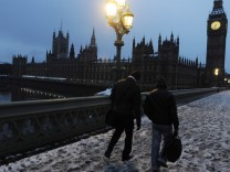 London is covered in snow