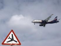 An Aeroflot Sukhoi Super Jet 100 jet liner lands at Moscow's Sheremetyevo airport