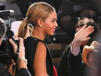 Singer Beyonce arrives at the 55th annual Grammy Awards in Los Angeles