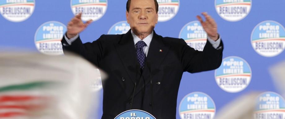 Italien Wahlen Silvio Berlusconi Mario Monti Guido Westerwelle Foza Italia