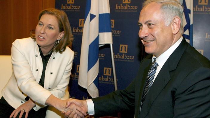 Benjamin Netanjahu mit Zipi Livni