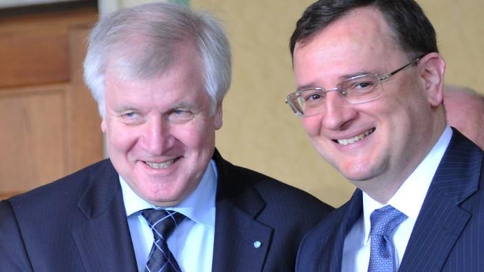 Tschechischer Premierminister Petr Necas besucht  Bayern