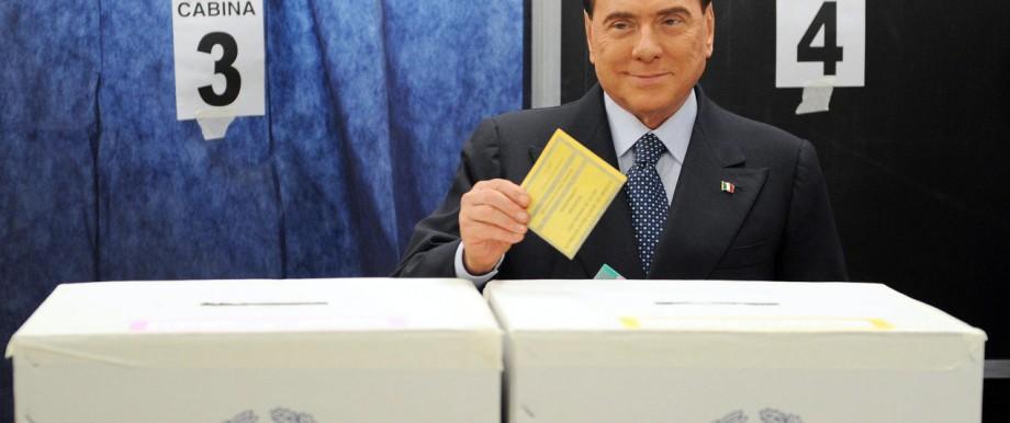 Silvio Berlusconi, Wahl in Italien