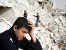 Jugendlicher in der syrischen Stadt Aleppo