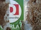 Wahlplakat der Partito Democratico in Rom
