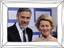 George Clooney  Ursula von der Leyen