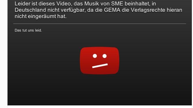 gesperrtes Video