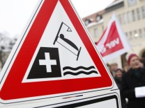 Klinikmitarbeiter demonstrieren gegen Sparkurs in München, 2013
