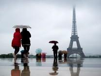 Paris an einem regnerischen Tag