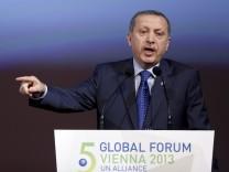 Tayyip Erdogan während seiner umstrittenen Rede in Wien