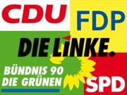 Parteilogos; Montage. sueddeutsche.de