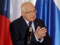 Czech President Vaclav Klaus treason