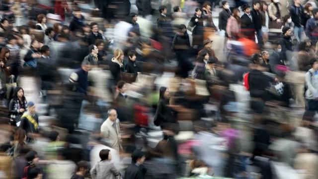 Menschenmassen in Tokio