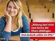 Jennifer M. auf der Homepage ihre SPD-Kreisverbandes Duisburg. Screenshot: sde
