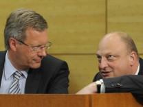 Christian Wulff und Olaf Glaeseker