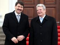 Janos Ader, Ungarn, mit Joachim Gauck