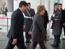 Merkel und Ader auf dem Weg ins Kanzleramt.