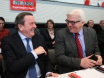 Gerhard Schroeder Attends SPD Bundestag Faction Meeting