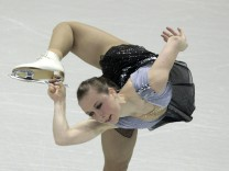 Nathalie Weinzierl of Germany performs during the Ladies Short Program at the ISU World Figure Skating Championships in London, Ontario