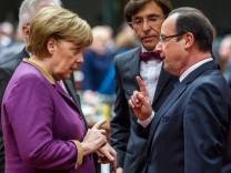 Angela Merkel und Francois Hollande beim EU-Gipfel