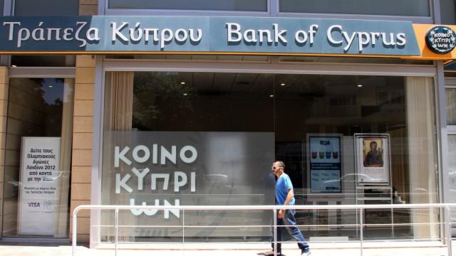 Bank of Cyprus in Nikosia, Zypern, Finanzkrise, Euro