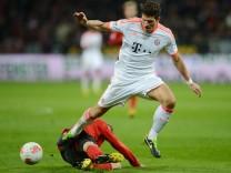 Mario Gomez, FC Bayern München, Daniel Carvajal, Bayer Leverkusen, Fußball Bundesliga