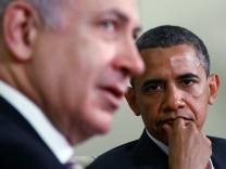 Barack Obama und Benjamin Netanyahu, Israel, USA, Naher Osten