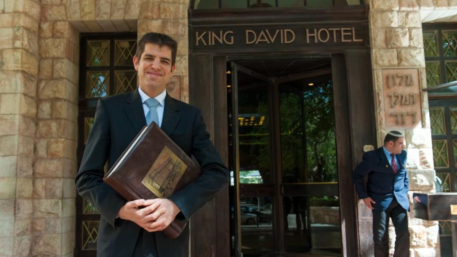 Barack Obama King David Hotel in Jerusalem