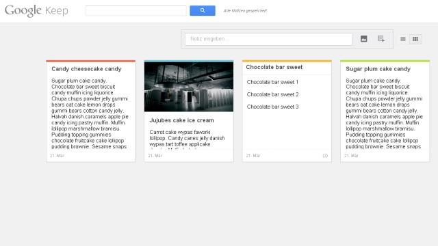 Google, Google Keep, Notizbuch, App