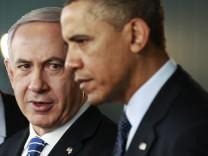 Benjamin Netanjahu und Barack Obama bei einem Treffen in Israel