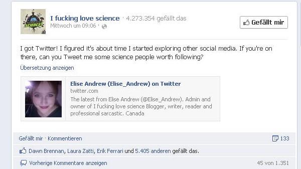 """Elise Andrew """"I fucking love science"""" der die das blog"""