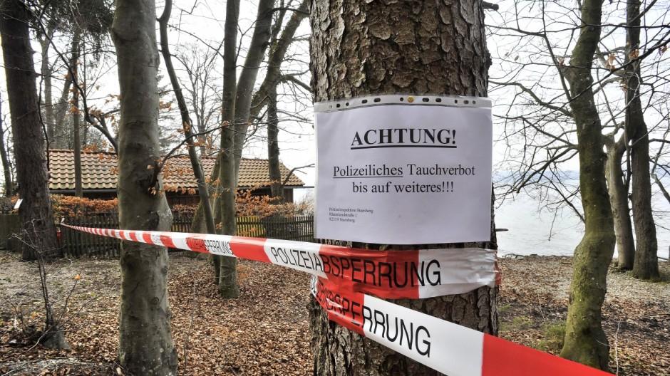 Berg Allmannshausen, Tauchgelände gesperrt.