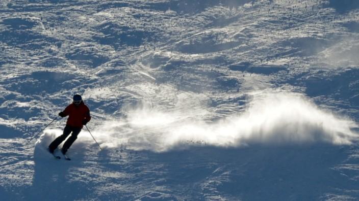 Skifahrer am Feldberg
