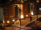 Transporter vor der Zentralbank in Nikosia