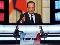 Frankreichs Präsident Hollande im TV-Interview