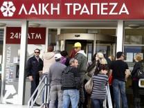 Schuldenkrise in Zypern Finanzkrise Bank