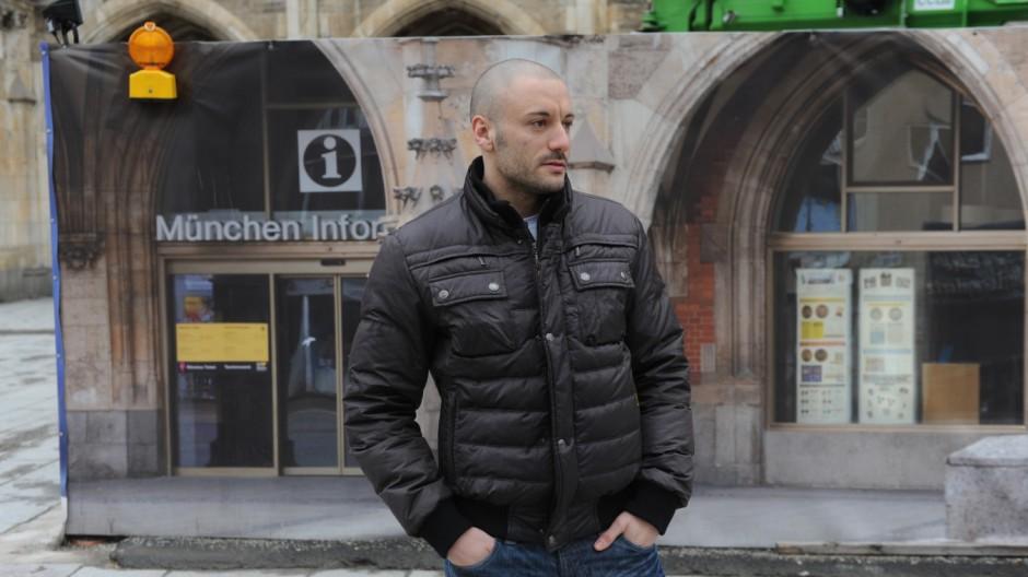 Giovanni Pagliuca auf dem Marienplatz.