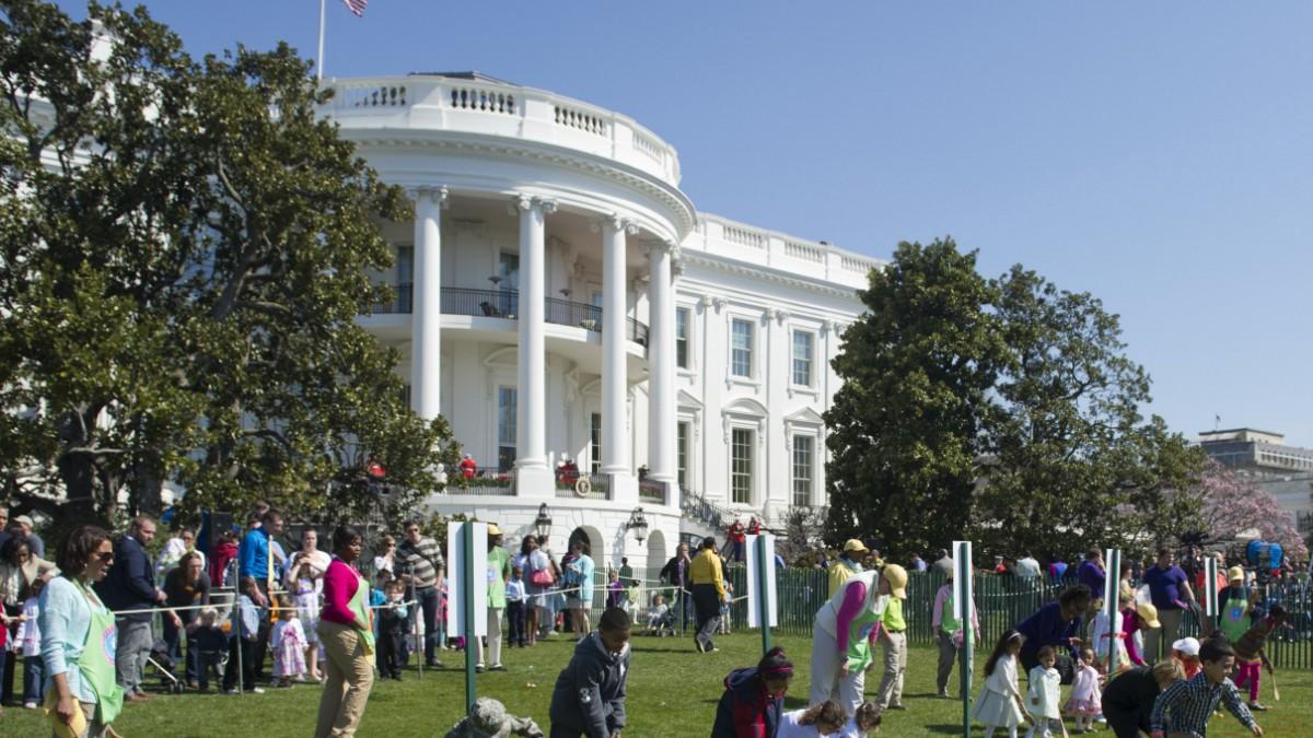 Toben vor dem Weißen Haus