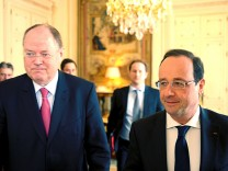 Peer Steinbrück, François Hollande in Paris