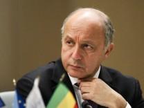 Frankreichs Außenminister Fabius