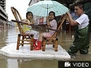 Taifun wütet in Ostasien