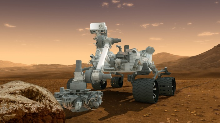 """Marsrover ´Curiosity"""" entnimmt erstmals Gesteinsprobe"""